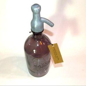 NWT Magnolia Home Glass Seltzer Bottle